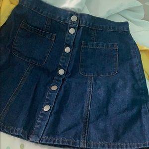 mini denim jean skirt